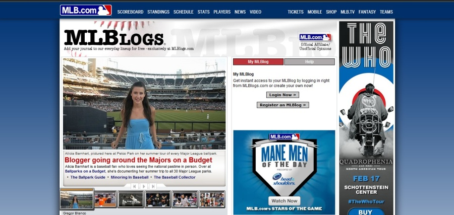 MLB Blog Front Page